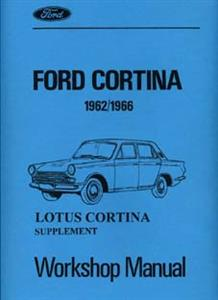 FORD Lotus Cortina 1962-66 Workshop Manual Supplement Reprint