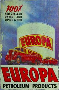 Europa Petroleum Products Metal Sign