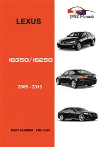 Lexus IS350/IS250 2005-2013 Translated Owner's Handbook