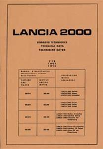 LANCIA 2000 Models 1974 Technical Data Reprint