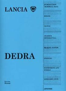 LANCIA Dedra 1989 Workshop Manual Reprint