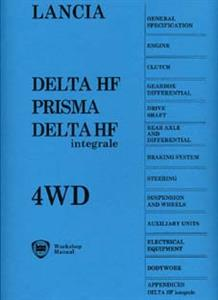LANCIA Delta HF Delta Integrale & Prisma 4WD 1987 Workshop Manual Reprint