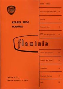 LANCIA Flaminia 1968 Repair Shop Manual Reprint