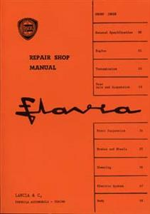 LANCIA Flavia Repair Shop Manual Reprint