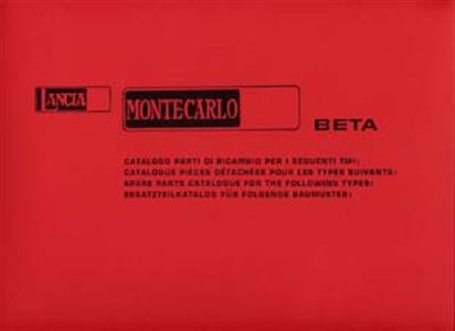 LANCIA Beta Monte Carlo 1977 Parts Manual Reprint