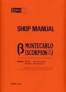 LANCIA Beta Monte Carlo 1977on Workshop Manual Reprint