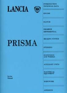 LANCIA Prisma 1986 Workshop Manual Reprint