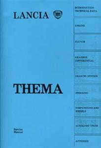 LANCIA Thema 1989 Service Manual Reprint