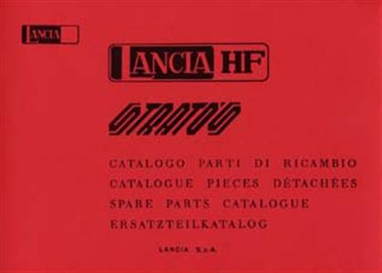 LANCIA Stratos Spare Parts Catalogue Reprint