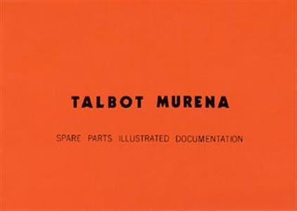 MATRA Murena Parts Manual Reprint