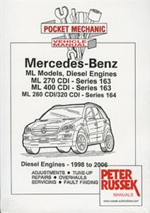 Mercedes Benz ML Diesel 1998-2006 Pocket Mechanic Repair Manual
