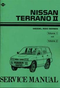 Nissan Terrano II (Mistral) 1993on Workshop Manual Reprint 2 Volumes 2.4 Petrol & 2.7 Turbodiesel