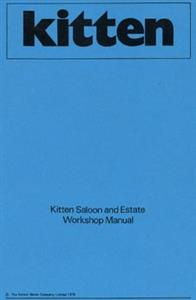 RELIANT Kitten WorksShop Manual Reprint