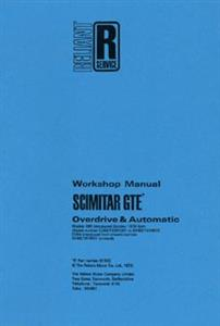 RELIANT Scimitar GTE SE6 3 Litre 1978 Workshop Manual Reprint