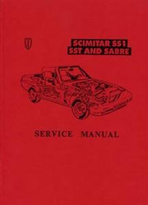 RELIANT SS1 SST & Sabre 1985 Workshop Manual Reprint