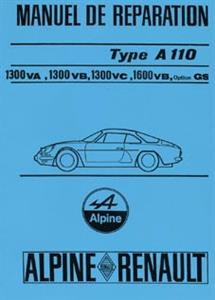RENAULT Alpine A110 1970 Workshop Manual Reprint