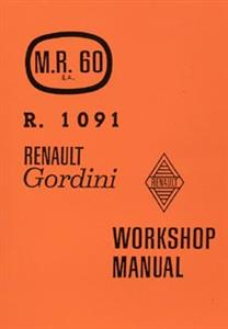 RENAULT Dauphine & Gordini 1961 Workshop Manual Reprint