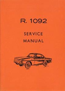 Renault Floride Workshop Manual Reprint