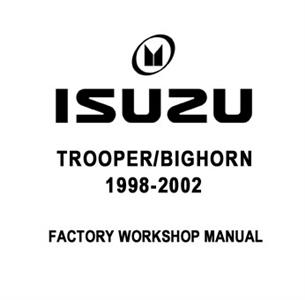 Isuzu Trooper/Bighorn 1998-2002 Factory Manual CD-Rom 3.5 V6 Petrol & 3.0/3.1 Turbodiesel