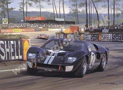 1966 Le Mans Print McLaren And Amon In A Mk 2 GT40